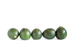 Fünf acht Ball-Kürbisse Lizenzfreie Stockfotografie