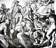 Fünf Amorite Könige Killed Stockbilder