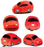 Fünf Ansichten des gleichen angefüllten Spielzeugautos Lizenzfreies Stockfoto