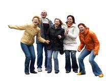 Fünf ausdrucksvolle Leute Lizenzfreies Stockbild
