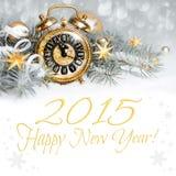 Fünf bis zwölf, guten Rutsch ins Neue Jahr 2015! Stockbild
