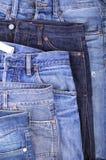 Fünf Blue Jeans Stockbild
