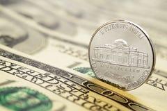 Fünf Cent-Münze stockbilder