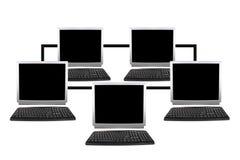 Fünf Computernetzcollage lizenzfreies stockbild