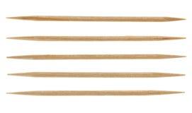 Fünf einzelne Toothpicks Lizenzfreie Stockfotografie