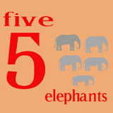 Fünf Elefanten Lizenzfreies Stockbild
