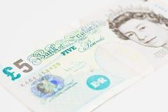 Fünf englische Pfund Stockbilder