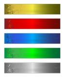 Fünf Fahnen Vektor Abbildung
