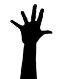 Fünf Finger Stockfoto