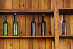 Fünf Flaschen Stockbild