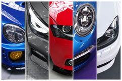 Fünf Fotos von Superautos Stockfoto