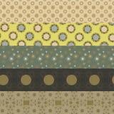 Fünf geometrische Muster Stockfotografie