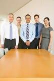 Fünf Geschäftskollegen lizenzfreie stockbilder