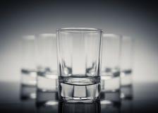 Fünf Gläser Stockfoto