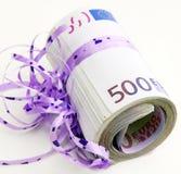 Fünf Hunderte als Geschenk Lizenzfreies Stockbild