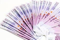 Fünf Hunderte von den Euros Lizenzfreie Stockfotografie