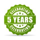 Fünf Jahre Jahrestag, die Ikone feiern vektor abbildung