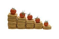 Fünf Jobstepps einer Diät lizenzfreie stockfotos
