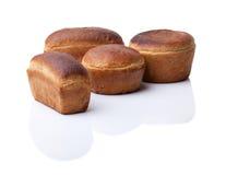 Fünf köstliche Laibe Brot Stockfotos
