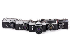 Fünf Kameras Stockfoto
