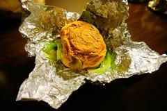 Fünf Kerle Vege-Burger Stockbild