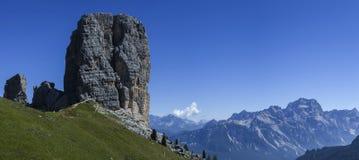 Fünf Kontrolltürme, Dolomit Stockfoto