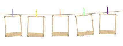 Fünf leere Leerzeichen Foto lizenzfreie abbildung