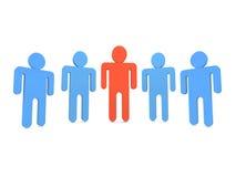 Fünf Leute im Team Lizenzfreie Stockbilder