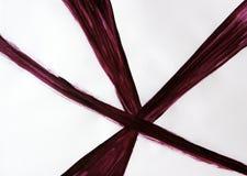 Fünf Linien gezeichnet mit einer Bürste, die bei einem Punkt sich treffen stockbild