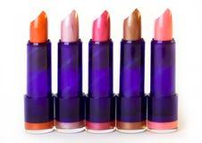 Fünf Lippenstifte Lizenzfreie Stockfotografie