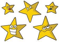 Fünf lustige Sterne Stockbild