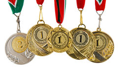 Fünf Medaillen Lizenzfreies Stockfoto