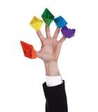 Fünf Papierlieferungen stockbild