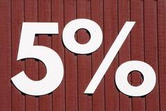 Fünf Prozent Stockbild