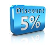 Fünf-Prozent-Rabatt Lizenzfreies Stockbild