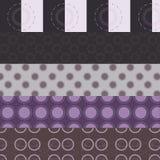Fünf purpurrote Kreismuster Lizenzfreies Stockbild