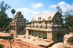 Fünf Rathas Tempel stockfoto