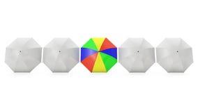 Fünf Regenschirme Lizenzfreie Stockfotografie