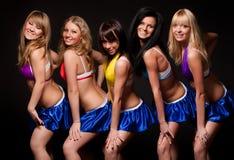 Fünf reizvolle Frauen Stockbild