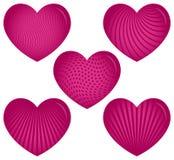 Fünf rosa Innere mit Mustern Lizenzfreies Stockbild