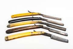 Fünf rostige Rasiermesser Lizenzfreies Stockfoto