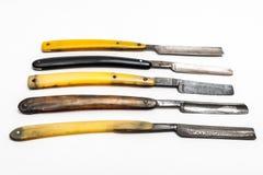 Fünf rostige Rasiermesser Lizenzfreie Stockfotografie
