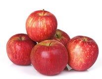 Fünf rote Äpfel Stockbilder