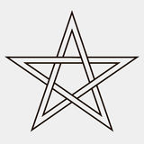 Fünf-spitzer Stern Lizenzfreies Stockbild