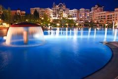 Fünf Stern-Hotel-Swimmingpool Stockfotografie