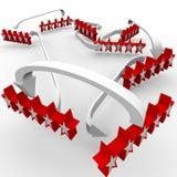 Fünf Stern-Zusammenfassung-Bewertungs-großes Feed-back lizenzfreie abbildung