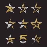 Fünf-Sternesymbolvektor Stockbild