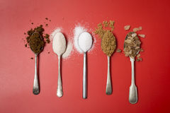 Fünf Teelöffel Zucker ein Tag für Kinder Lizenzfreies Stockbild
