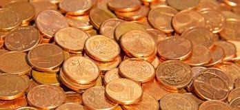 Fünf, 10 und fünfzig Eurobanknoten Stockbild