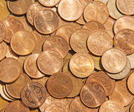 Fünf, 10 und fünfzig Eurobanknoten Lizenzfreies Stockbild